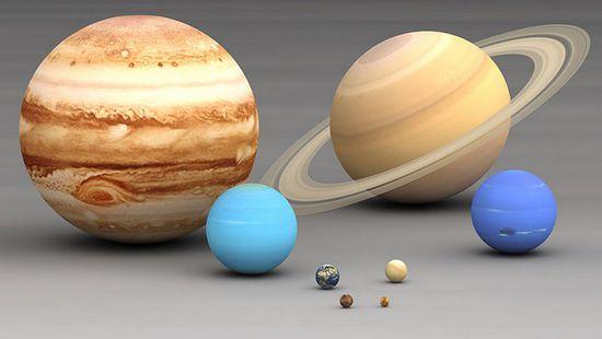 Размеры планет Солнечной системы