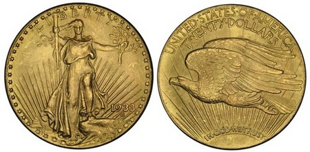 Saint-Gaudens Gold Double Eagle Coin